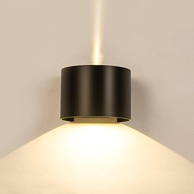 StiefelU LED Wandleuchte nach oben und unten Wandleuchten Auen-Wandleuchte wasserdicht Nachttischlampe Schlafzimmer Wohnzimmer mit Balkon, Treppe Terrasse Wandleuchten d 13,5 Cmh 10 cm, warm weie Led