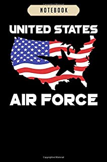 Notebook: Air force us flag f 16 fighter falcon pride Notebook|6x9(100 pages)Blank Lined Paperback Journal For Student, kids, women, girls, boys, men, birthday gifts|Veterans day gifts notebook