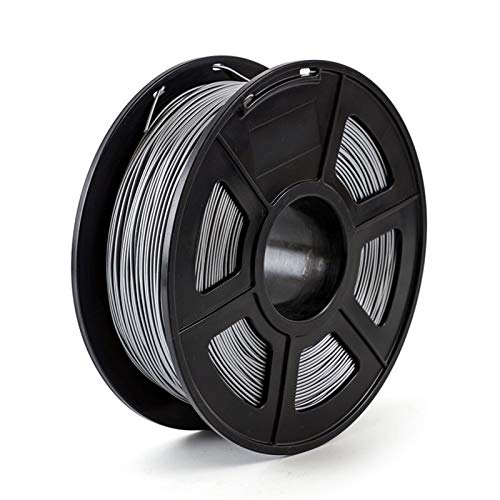 3D Printer Filament 1.75mm 1kg/2.2lbs Plastic Filament Consumables Material for 3D Printer Printing Filament (Color : Silver)