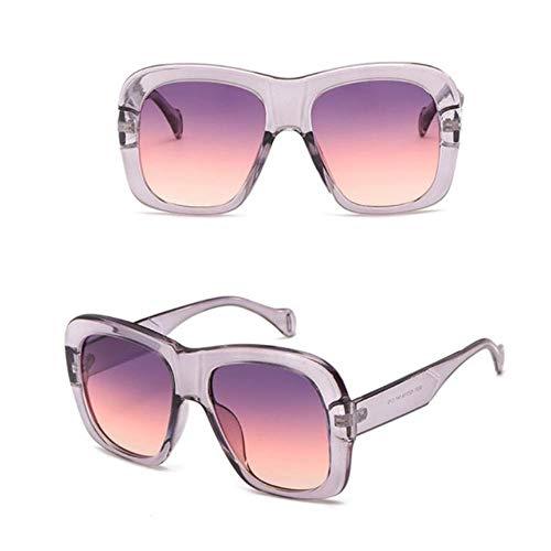 Gbcyp Fashion Zonnebril voor dames en heren, met vierkant frame, retro-look van Tendenza zonnebril met kattenogen in twee kleuren