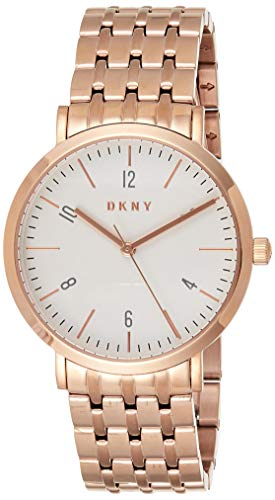 DKNY Women's Quartz Watch with Stainless-Steel Strap, Rose Gold (Model: NY2504)