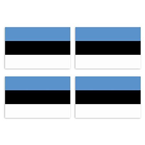 KIWISTAR Aufkleber 4,5 x 2,9 cm Estland - Land Staat Autoaufkleber Flagge Länder Wappen Fahne Sticker Kennzeichen
