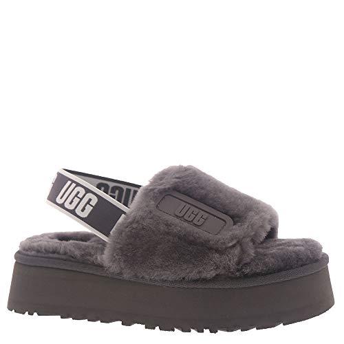 UGG Disco Slide Slipper, Dark Grey, Size 7
