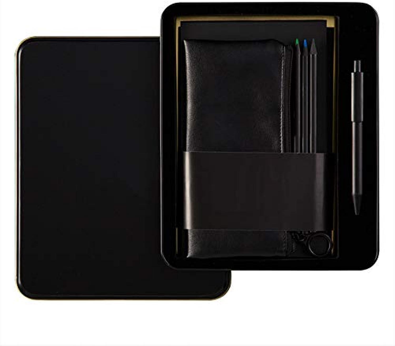 YWHY Notizbuch A5 Notebook Plan Dieses Business Notebook Büro Rekordbuch Portable 6-Teiliges Set Mit Stift Geschenkbox B07L2DN551 | Preiszugeständnisse