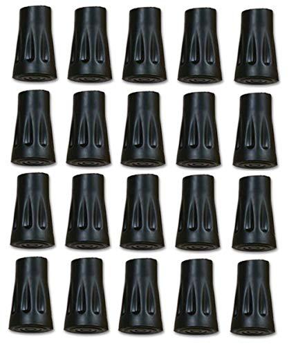 TREKKING - Wandel stappen - Zwarte Rubberen doppen voor reserveonderdelen en vervangingen van wandelstokken - Trekkingspakketten van 10-20 stuks om uit te kiezen. (20)