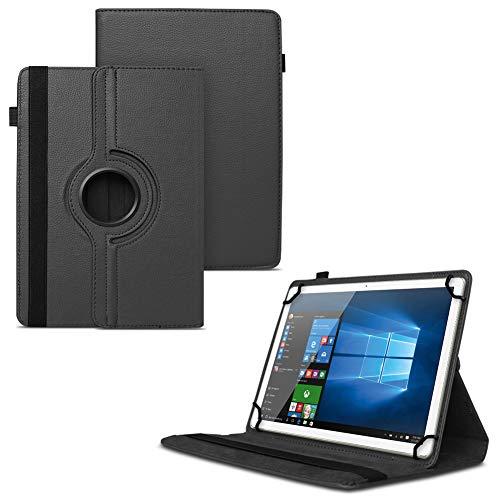 UC-Express Tablet Tasche kompatibel für Winnovo M798 Hülle Universal Schutzhülle aus Kunstleder Standfunktion 360° Drehbar Cover Case, Farben:Schwarz