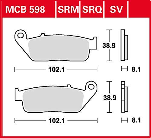 Bremsbelag TRW Sinter Rennsportbelag CB 600 F Hornet PC41 07-13 vorne