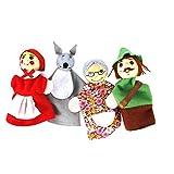 4 Pc/Finger Conjunto Caperucita Animales Navidad Marionetas Del Dedo De La Marioneta De Juguetes Educativos Juguetes Cuentacuentos Muñeca De Dibujos Animados Para Los Niños