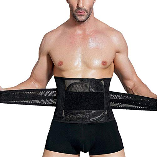 Cinturón De Entrenador De Cintura Cinturón De Vientre De Cintura Ajustable Moldeador De Cuerpo Deportivo De Alta Elasticidad para Entrenamiento Físico Unisex (Size:M; Color:Black)