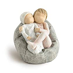 Sentiment: Lots to learn to love to grow together written on enclosure card 2.5 Inch hand-painted resin figure; ready to display on a shelf, table or mantel; to clean, dust with soft brush or cloth A gift to celebrate new beginnings, new babies, new ...