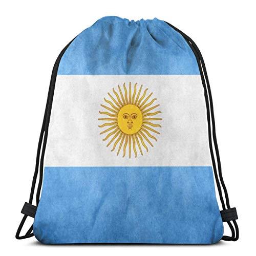 N / A Casual Daypacks,Zaino per Bambini,Zaino con Coulisse,Zaino da Viaggio,Alta qualità Gymsack,Drawstring Bag,Sport Gym Sacca Borsa,Bandiera Argentina Vintage Sacca da Goody