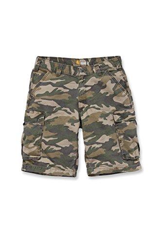 Carhartt Rugged Cargo Camo Short - Pantaloncini da lavoro cachi mimetico 44