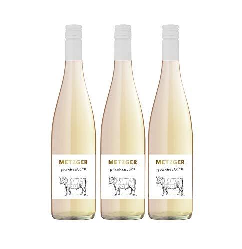 Metzger Prachtstück Spätburgunder Blanc de Noir Weißwein Wein trocken KuhbA (3 Flaschen)