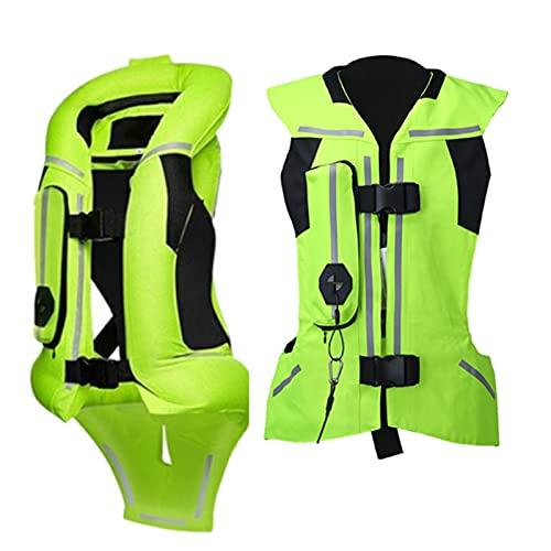 Chaleco De Airbag De Motocicleta De Ciclismo Four Seasons Chaleco De Ciclismo Reflectante Cómodo Y Transpirable Con Forro De Malla. (Sin Cartucho De CO2, S-2XL, 2 Colores) Equipo de ciclismo