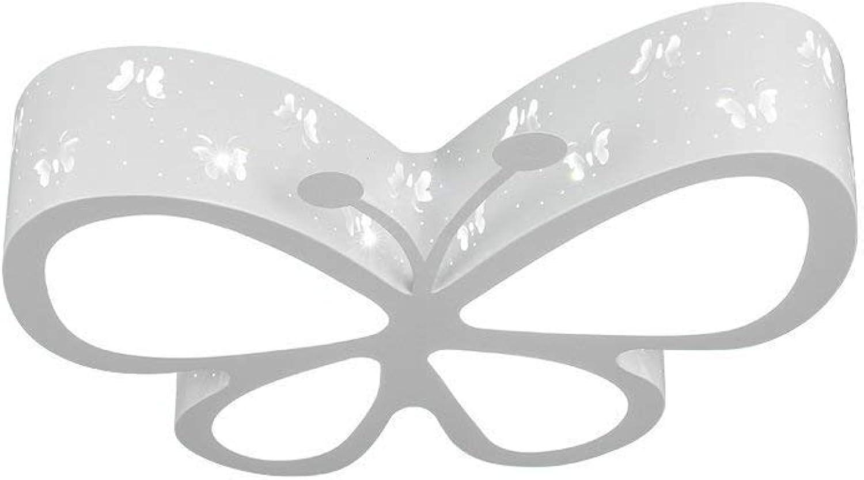 Xiao Fan   Kinder Deckenleuchte, Moderne minimalistische weie LED Schmetterling Deckenleuchte für Kinder Schlafzimmer Wohnzimmer dekorative Kronleuchter, Weißlight