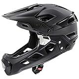 uvex jakkyl HDE 2.0 Casco de Bicicleta, Adultos Unisex, Black Mat, 56-61 cm