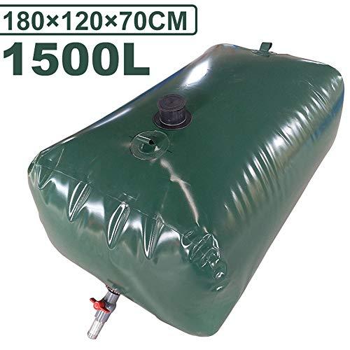 Vessie portative / réservoir de stockage d'eau, Réservoir d'eau durable pliable épaissi pour voiture extérieure, Sac de stockage d'eau d'urgence avec robinet, Collecteur d'eau de pluie de jardin