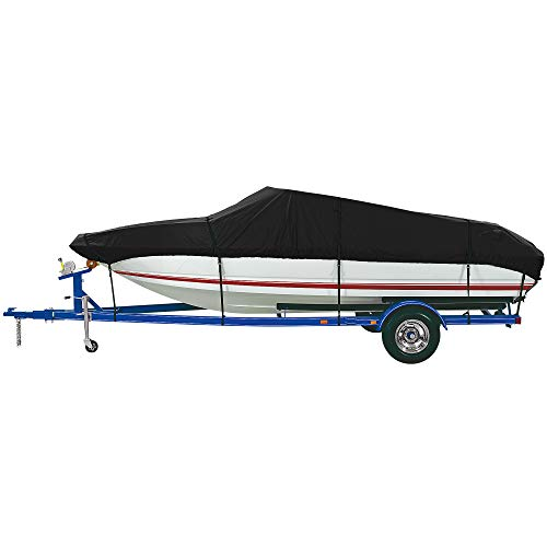 New iCOVER Trailerable Boat Cover- Water Proof Heavy Duty,Fits V-Hull,Fish&Ski,Pro-Style,Utility Boa...