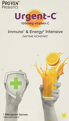 Pro-Ven Probiotics Urgent-C Immune & Energy Intensive Daytime Kickstart, White and Orange, 500 g
