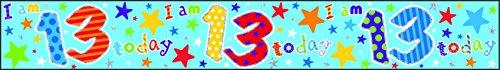 Creative Bannière Happy Birthday 13 Ans holographique Multicolore 2,5 m x 12 cm