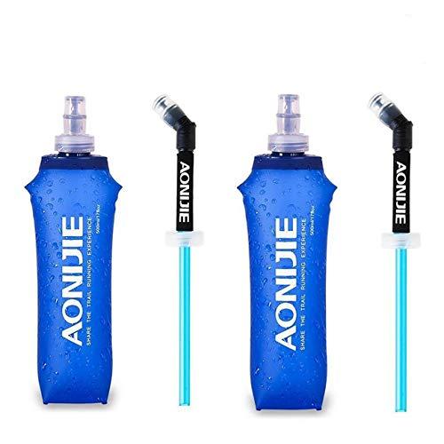 Paquete de 2 botellas de agua de hidratación suave de poliuretano
