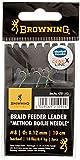 Browning Bronze 8 Braid Feeder Leader Method Boilie Needle 6,4kg,14lbs 0,12mm 10cm 3Stück, 8