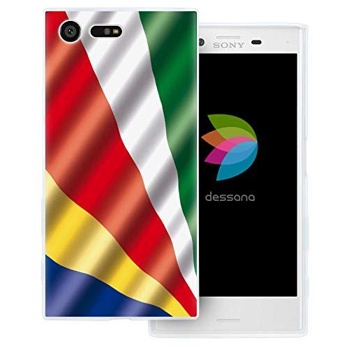 dessana Seychellen transparente Schutzhülle Handy Case Cover Tasche für Sony Xperia X Compact Seychellen Fahne