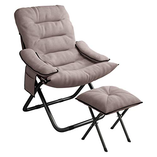 ETHY Convertible Sleeper Chair | Folding Massage Lazy Sofa Armchair 3-Position Adjustable Lounger Bed with Bench for Home