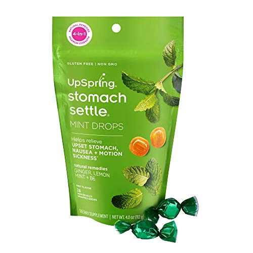Product Image of the Upspring Stomach Settle Drops with Ginger, Lemon, Spearmint, Honey & B6  ...