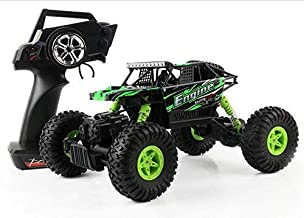 SZJJX RC Cars Rock Off-Road Vehicle Crawler Truck 2.4Ghz 4WD High Speed 1:18 Radio Remote Control Racing Cars Electric Buggy Hobby Car Gift for Boy Girl-New Green