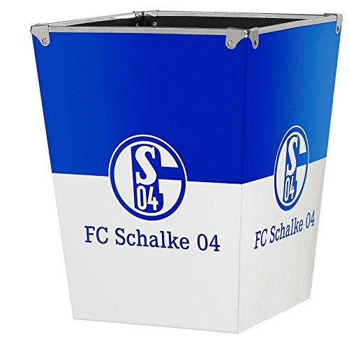 FC Schalke 04 prullenbak/vuilnisbak S04 - plus gratis sticker voor gelsenkirchen