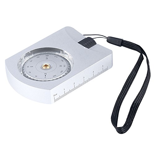Eyeskey Multifunctional Military Army Aluminum Alloy Sighting Compass, Great for Hiking, Camping