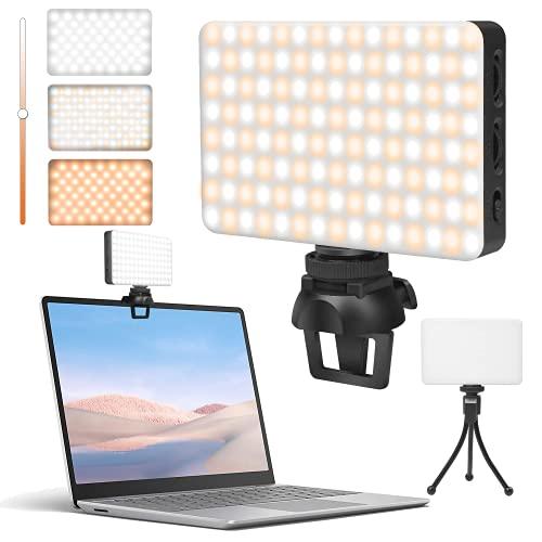 Luce Video LED Dimmerabile, CONTNEW 3100mAh 120 LEDs Luce per Videoconferenze Luce di Riempimento con Luminosità Regolabile CRI 95+, Luce Fotografica LED Portatile per Videocamere DSLR, Fotografia