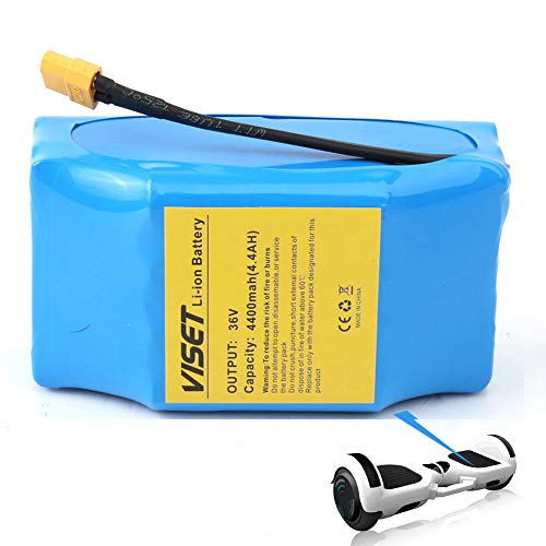 viset 36V 4.4AH Lithium li-ion Battery Pack 36V 4400mah for 2 Wheel Balancing Electric Scooter Universal Backup Battery