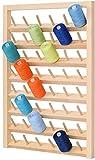 HAITRAL 48 bobinas de hilo de coser de madera, soporte de hilo para colgar en la...