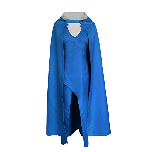 ishine® Game of Thrones Daenerys Targaryen Dress Kleid Blau Cosplay Kostuem