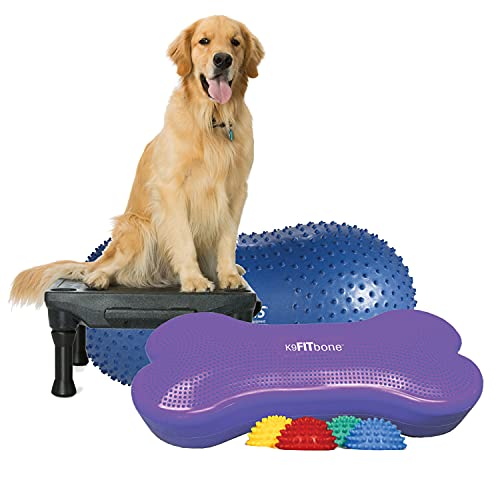 FitPAWS This kit Comes with a Klimb, Giant K9 FITbone, TRAX Peanut Kit, 60 cm and Set of Non-Skid PawPods.