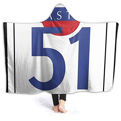 maichengxuan Manta con Capucha 3D PASTIS 51 Super Soft Sherpa Fleece Blanket 80'x60'