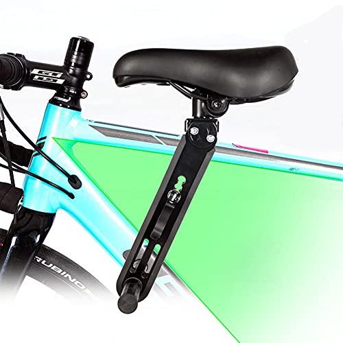 Sudadera Fahrrad kindersitz für Mountainbikes, vorne montierte Fahrradsitze für Kinder von 2-5 Jahre (bis 35 kg),Tragbarer Abnehmbarer Vorneliegender Fahrradsitz Mit Fahrradpedalen