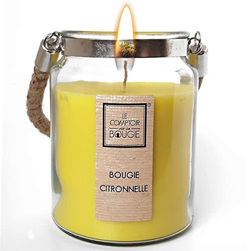 BMCC XL Premium-Duftkerze Citronella, Duftkerzen aus natürlichem Wachs, hergestellt in Frankreich, langanhaltender Duft für das ganze Zuhause, süßes und zartes Geschenk (Citronella)