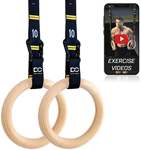 Double Circle Wood Gymnastic Rings
