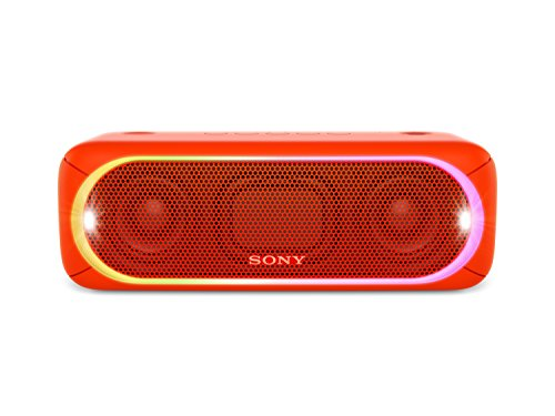 Sony SRS-XB30 Altoparlante Wireless Portatile, Extra Bass, Bluetooth, NFC, USB, Resistente all'Acqua IPX5, Rosso