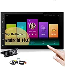 Bluetooth Car Radio Android 10.0 Car Stereo Touch Screen 7 Inch in Dash Autoradio Headunit Double 2 din Support WiFi Mirrorlink GPS Navigation System Handsfree 1080P MP3 Wireless Backup Camera