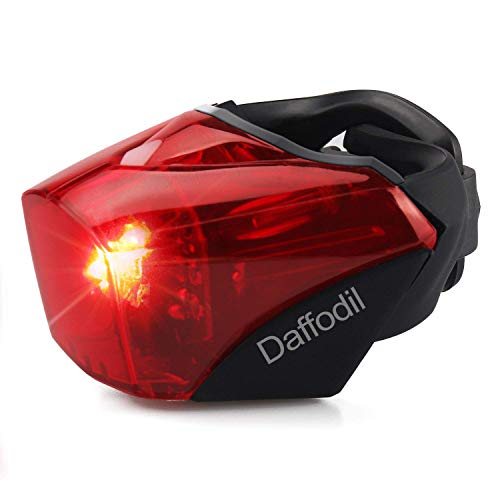 Daffodil Rear Bike Tail Light LEC510R - LED Bicycle Lights Ultra Bright USB Rechargeable Waterproof Cycling Taillights Fits Any Road Bikes or Helmet Compatible With Mountains, Roads