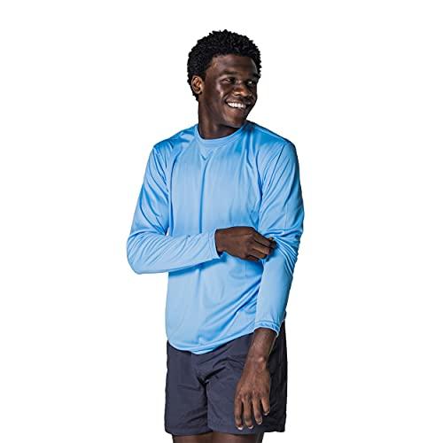 Vapor Apparel Men's UPF 50+ UV Protection Long Sleeve Tee, L, Columbia Blue