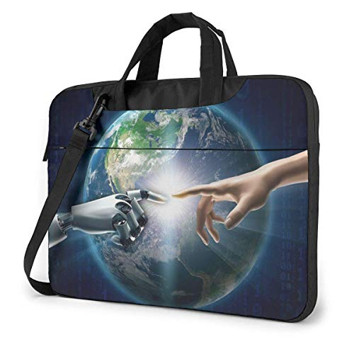 Laptop Shoulder Bag Carrying Laptop Case 13 Inch, Artificial Intelligence Computer Sleeve Cover with Handle, Business Briefcase Protective Bag for Ultrabook, MacBook, Asus, Samsung, Sony, Notebook