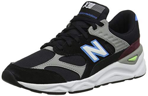 New Balance X-90, Sneaker Uomo, Nero (Black/Light Cobalt CK), 45 EU
