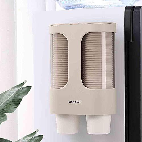 HZLXF1 Einweg-Becherhalter, geeignet for Familien-Hotel Restaurants, Kunststoff, adhäsive Befestigung, Keine Notwendigkeit zum Durchschlag (Color : Dark Khaki)