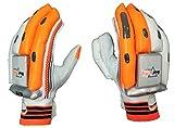 HeadTurners Cricket Batting Gloves Right Hand - Elite (Orange) (Boys)