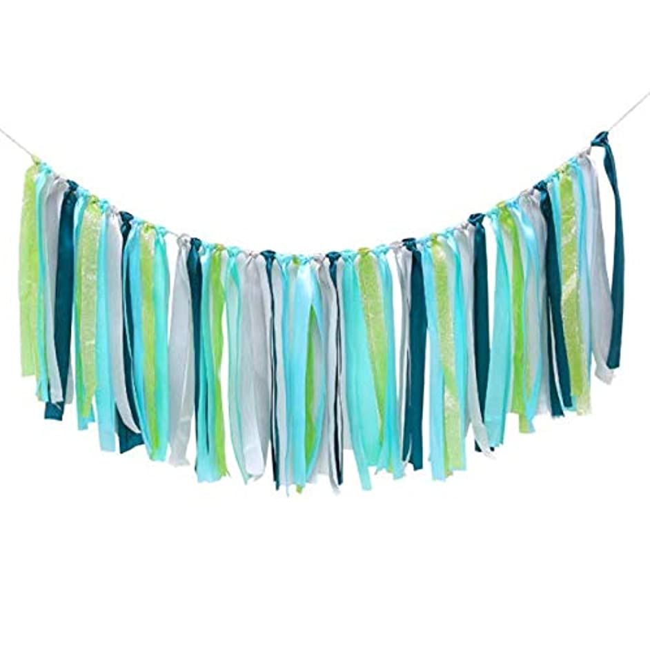 Spring+ Colorful Ribbon Tassel Garland Already Assembled for Wedding Party Decorations Nursery Photo Props 40
